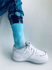 CLOUD TIE DYE SOCKS BLUE