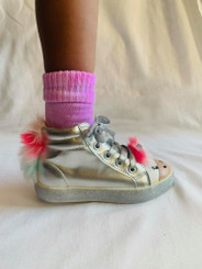 CLOUD TIE DYE SOCKS PINK
