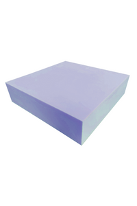 "3"" - 2250 Blue Polyurethane Foam (24"" x 24"" Cushion)"
