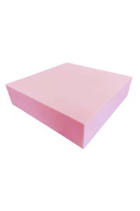 "3"" - A71 Pink High Density Polyurethane Foam (24"" x 24"" Cushion)"