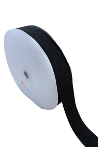 "1"" Black Fastener Adhesive Backed - Loop Only/Soft side (YARD)"