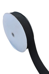"1"" Black Fastener Sew On - Hook Only/Rough side (50 YD ROLL)"