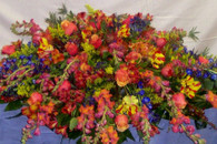 FLORAL WEB CS 1  Full cover casket spray.  Can be reduced or enlarged.