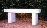 Bench Marble white   Call for pricing