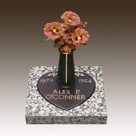 CHILD Bronze over Granite HEART with vase