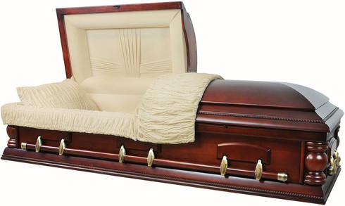 W-8703-FS Solid Poplar wood casket