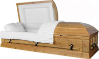 "W-8746-FS ""Solid Cedar"" hardwood casket"