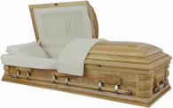 W-8832-FS   - Solid Ash Casket Almond Interior - No Shine