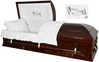 W-8747-FS solid cedar hardwood casket