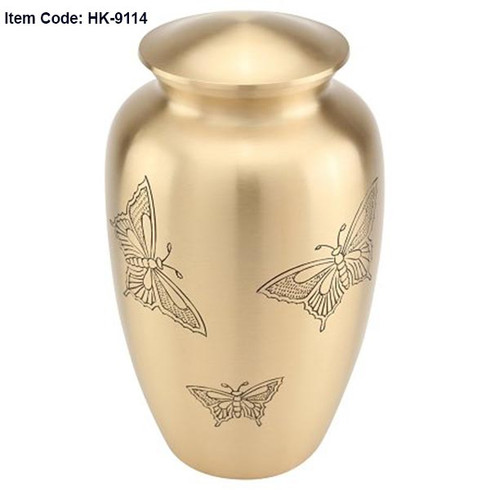 Urn HK 9114  Bronze with Butterflies