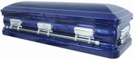 M-8213-Full-FS - Full Couch w/Foot Panel 18ga Cobalt Blue Finish