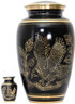 Urn FS 025 Eagle Bronze Black w/gold
