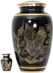 Urn FS 025 Eagle Bronze Black w/gold