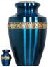 Urn 066-A - Brass Urn Velvet Box plus 1 Keepsake