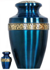 Urn 066-A - Brass Urn Velvet Box plus 1 Keepsake