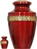 Urn 135-A  Brass Urn Velvet Box plus 1 Keepsake Red