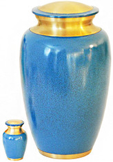 Urn 172-A - Brass Urn Velvet Box plus 1 Keepsake
