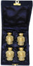 Urn FS 001-C - 4 Mini Brass Urn Velvet Box