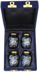 Urn FS 006-C - 4 Mini Brass Urn Velvet Box