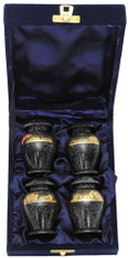 Urn FS 047-C - 4 Mini Brass Urn Velvet Box