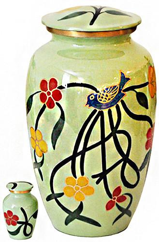 Urn FS 087-A - Brass Urn Velvet Box plus 1 Keepsake