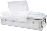 M-8415-FS White 18 Gauge Protective metal casket