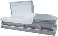 "M-4210-FS Silver 20 gauge non-protective metal casket ""The Ideal Casket"""
