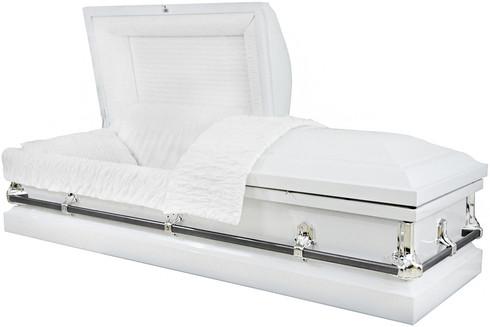 M-4214-FS SOFIA  White 20 gauge non-protective The Ideal casket