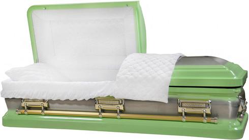 M-8412-FS  Pastel Green  18 gauge protective white velvet interior