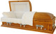 FAIRFAX   Solid Poplar with a Maple finish.  Also comes in a Cherry or Mahogany finish.  Swing bar handles, Adjustable bedding, White velvet interior.