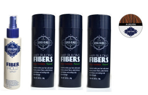 Bundle 4 Items : 3 Hair Fibers Auburn + Fiber Hold Spray