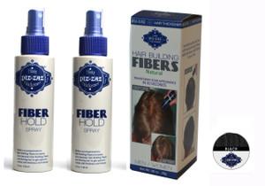 Hair Fibers & 2 Spray Kit - Black