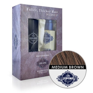 Hair Fibers & Spray Kit - Meduim Brown