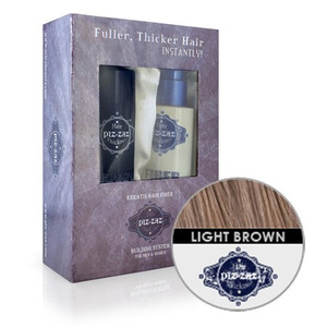 Hair Fibers & Spray Kit - Light  Brown