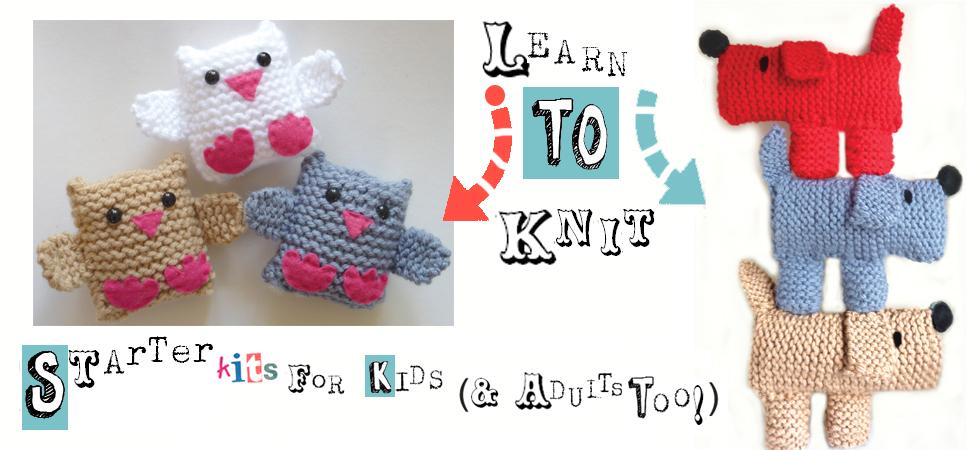 Amazon.com: Scruff The Dog Learn To Knit Kit: Handmade