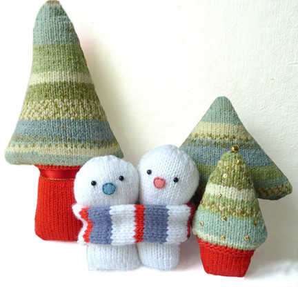 Christmas Snowmen Knitting Kit