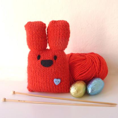 Red Bunny Knitting Kit
