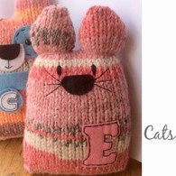 Big Cat, Little Cat Knit Kit in Rose