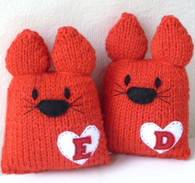 Personalised Wedding LoveCats *Readyknitted*