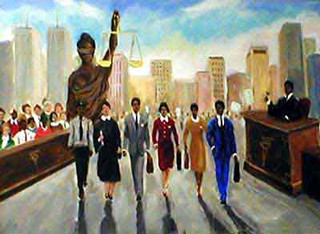 Champions of Justice,Black lawyer.African American Culture, Paintings, Ellis Art, Buy Art, Purchase Limited Edition Lithograph  Size: 24x35 Edition Size: 950