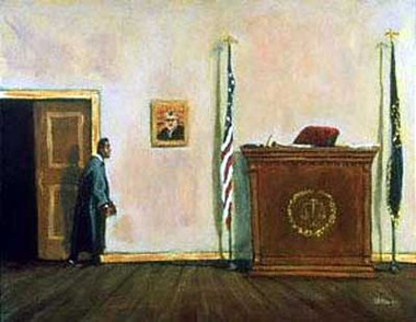 Here Comes the Judge,Black lawyer.African American Culture, Paintings, Ellis Art, Buy Art, Purchase  S/N 250  28x22