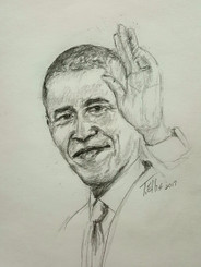 T. Ellis drawing of president Obama 2017