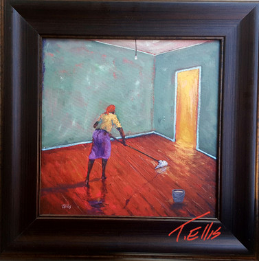 Mommas Sacrifice, 16x16, T. Ellis original, framed, 3650.00