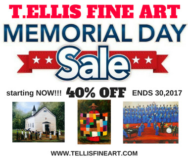 T. Ellis Memorial Day Sale-2017 | 3 prints special Sunday Worship, Thee Baptism, Worship In the House  Here's an opportunity to get a great art bargain from T. Ellis. Hope you find something that you like. I will be uploading addition art ...so take advantage of our art sale. www.tellisfineart.com  Enjoy the art sale, T. Ellis