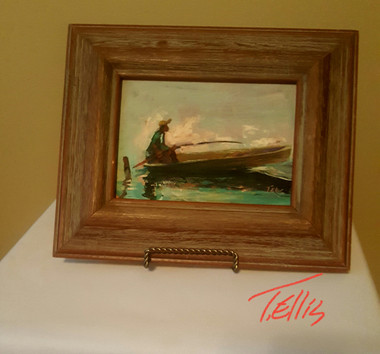 Peace of Mind, 5x7 framed T. Ellis miniature painting www.tellisfineart.com