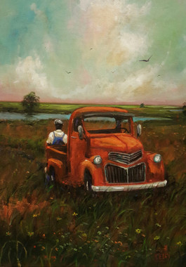 Taking a Break- 24x18 T. Ellis original $7,500.00
