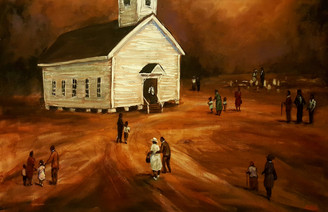 Where We All Go to Worship-24x36 T. Ellis  original painting  $15,000.00