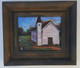 """The Little White Church that We All Belong Too"" -8x10 T.Ellis framed original painting. $2850.00 www.tellisfineart.com"