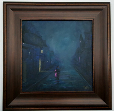 Midnight Romance, 16x16, $3650.00