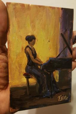 My Love for Classical Play- T. Ellis 6x4 miniature original painting. Reg. retail $850.00